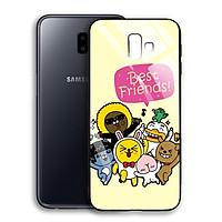 Ốp Lưng Kính Cường Lực cho điện thoại Samsung Galaxy J6 Plus - 03015 7791 BF02 - Hàng Chính Hãng
