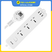 Ổ cắm điện 3 USB 3 lỗ 3 chấu 3m DMAX YH-U614 - Hàng Chính Hãng