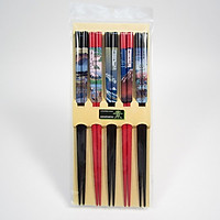 Bộ 5 đôi đũa họa tiết tranh sơn thủy Nội địa Nhật Bản