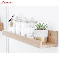Kệ gỗ treo tường loại mảnh, kệ trang trí Anzzar nhiều kích thước trang trí phòng khách, phòng ngủ