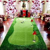 Bộ Thảm tập Putting Golf [1,3m x 2,8m], Dày 3cm: Kèm 3 lỗ cờ inox, Cao cấp, Bền bỉ, Đàn hồi tốt.