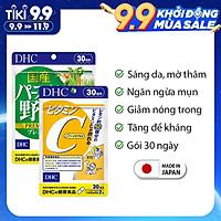 Combo Giảm nóng trong - Trắng da (Viên uống DHC Nhật Bản Rau củ và Vitamin C) Thực phẩm chức năng gói 30 ngày JN-DHC-CB9