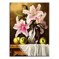 Tranh Canvas Treo Tường Trang Trí Phòng Bếp Hoa Ly Hồng Suemall CV140860