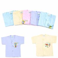 Áo tay ngắn màu cho bé-Set 10 áo tay ngắn sơ sinh màu giữa cho bé 2-12kg