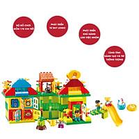 Bộ đồ chơi lắp ghép smoneo duplo ngôi nhà mơ ước của bé 175 chi tiết Toyhouse 55008
