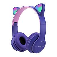 Wireless Headphones Cat Ear With Mic Bluetooth Cool Glow Light Stereo Bass Helmets Kids Gamer Girl Gifts