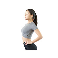 Áo Tập Gym Nữ, Áo Tập Yoga Thiết Kế Đan Chéo Tôn Dáng Cao Cấp Co Giãn 4 Chiều