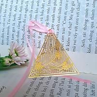 Bookmark kim loại họa tiết sakura hình tam giác