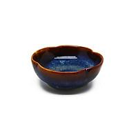 06 Chén chấm hình hoa S1 Đông Gia - xanh sóng biển 8094. Flower fish sauce bowl D9.5