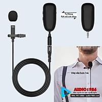 Micro không dây đeo cài ve áo TNVI-V1 UHF Wireless thu âm, trợ giảng