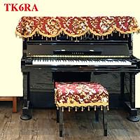 Khăn phủ đàn PIANO màu đỏ QUYẾN RŨ style HOÀNG GIA cao cấp ♫