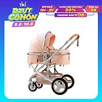 Xe đẩy  nôi nằm  2 chiều 3 tư thế cao cấp gấp gọn có mái che giảm sóc cho bé từ sơ sinh khung hợp kim