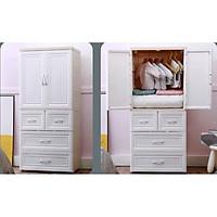 Tủ nhựa cao cấp đựng quần áo cho bé Holla 5 tầng, có nhiều ngăn tủ nhỏ, có bánh xe giúp di chuyển dễ dàng, nhựa nguyên sinh cao cấp an toàn cho bé - hàng chính hãng
