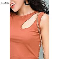 Áo thun co giãn nữ tính 20AGAIN ATA1471 thiết kế hở 1 bên vai quyến rũ