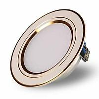 Combo 10 đèn âm trần 7w ba chế độ màu viền vàng