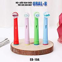 Bộ 4 đầu bàn chải trẻ em cho máy đánh răng Braun Oral B ẺB-10A - Xuất xứ Anh