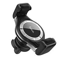 Giá Đỡ điện thoại Kiêm Sạc Không Dây trên ô tô, xe hơi Hoco S1, Trượt con lăn silicone không làm tổn thương điện thoạiNút để điều chỉnh chiều rộng kẹp.Đầu vào: 5V / 2A, 9V / 2A., Đầu ra: 5W / 7.5W / 10W, Hàng nhập khẩu