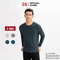 Áo Thun Nam Dài Tay 5S (ATO20), Vải Cotton Spandex Cao Cấp, 4 Màu Cơ Bản