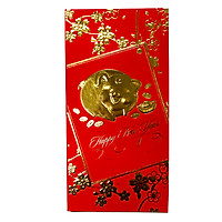 Set 6 Bao Lì Xì 2019 Ép Kim May Mắn Hình Heo Vàng