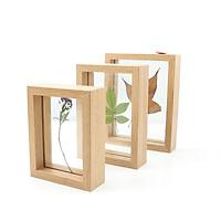 Khung tranh Anzzar ép hoa cỏ khô sz 10x15cm gỗ thông tự nhiên trang trí nội thất phong cách Hàn Quốc AZ-1015