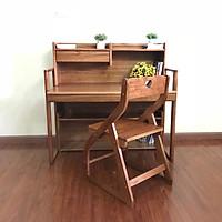 Bộ bàn học trẻ em – bàn học sinh gỗ tự nhiên - bàn học thông minh thay đổi độ cao VBHE01
