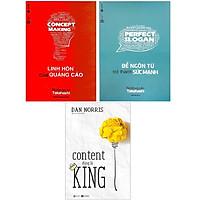 Sách - Combo: Linh Hồn Của Quảng Cáo + Để Ngôn Từ Trở Thành Sức Mạnh + Content Đúng Là King (3 cuốn)