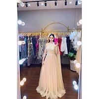 Đầm dạ hội lưới vai kết lông công TRIPBLE T DRESS -size M/L (kèm ảnh/video thật) MS292V