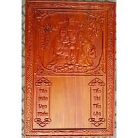 Tranh gỗ hương đốc lịch treo tường