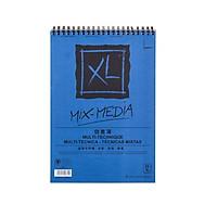 Giấy vẽ màu nước XL Mix Media đóng quyển size A4 300gsm 25 tờ chuyên vẽ màu nước, acrylic, gouache