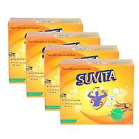 Combo 4 Hộp SUVITA - Đạm Bổ  giúp bồi bổ sức khỏe, tăng cường sức đề kháng , sử dụng Cho Người Làm Việc Qúa Sức (Hộp 10 vỉ x 10 viên)