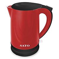 Ấm Đun Siêu Tốc SATO VN-ST-1805-ONL (1.8 Lít) - Đen Đỏ - Hàng Chính Hãng