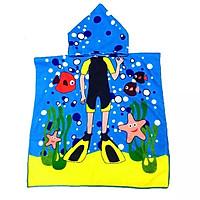 Khăn choàng tắm đi biển cho bé màu sắc vui nhộn (hàng loại I) – KH001