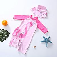Bộ bơi cộc hồng cò bé gái (1-6 tuổi)