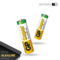 Pin tiểu GP Super Alkaline AA 1.5V (2 viên/4viên),Pin AA GP,Pin chuột máy tính,Pin điều khiển quạt,Pin điều khiển tivi,Pin sử dụng cho các thiết bị nhỏ,Pin đồng hồ treo tường,Pin đồ chơi điện tử trẻ em