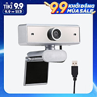 640P Webcam Live Streaming Webcam with Microphone 360 Degree Rotatable USB Web Camera for PC Laptop Clip-On Webcam for