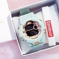 Đồng hồ thời trang nam nữ điện tử As1 full chức năng,nền đen hiển thị giờ,ngày tháng,báo thức và đèn - không kèm vòng tay