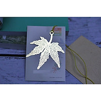 Bookmark kim loại mạ đồng lá phong
