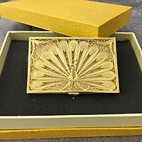 Hộp đựng danh thiếp (name card) hình chim Khổng tước mạ vàng
