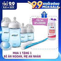 Bộ bình sữa, ty ngậm thiết kế tự nhiên Philips Avent