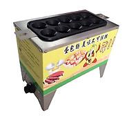 Máy làm xúc xích trứng cuộn 10 ống gas