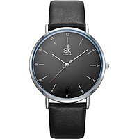 Đồng hồ nam chính hãng Shengke K8066G-01 Đen mặt đen