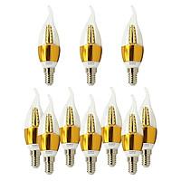 10 Bóng đèn Led hình nến 5w đuôi E14 sáng vàng ấm Posson Lca-5E14G