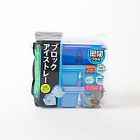 Bộ 3 khay làm nước đá 6 viên có nắp đậy - Hàng nội địa Nhật Bản