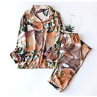 Pijama Mặc Nhà , Đồ Bộ Ngủ Nữ Dài Tay Azuno BN2116 Chất Liệt Cotton Lụa Có Thể Mặc Mùa Hè