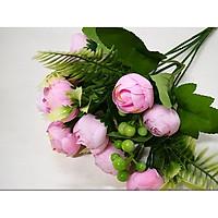 Cành hoa hồng trà Masory 10 bông mẫu mới trang trí nhà cửa