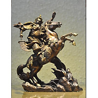 Tượng Quan Công Cưỡi Ngựa Điều Binh Bằng Đồng Hun Giả Cổ