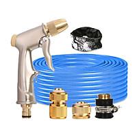 Bộ dây vòi xịt nước rửa xe, tưới cây đa năng, tăng áp 3 lần, loại 7m, 10m 206701-1đầu đồng,cút đồng+ tặng khăn phượt