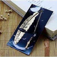 Bookmark Kim Loại Đánh Dấu Sách Hình Lông Vũ Dây Treo - Tháp Big Ben
