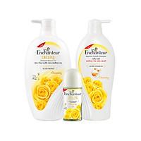 Trọn bộ Enchanteur hương Charming (Dầu Gội 650gr + Sữa tắm hương nước hoa 650gr + Lăn khử mùi hương nước hoa 50ml)