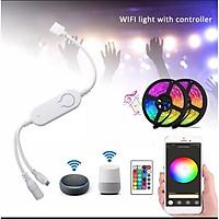 Điều Khiển LED 12V IR + WiFi RGB Tuya/SmartLife 4 chân .Tương Thích Google Home & Amazon Alexa